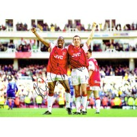 Wright & Winterburn Arsenal Fc Hand Signed Photo Authentic Genuine + Coa - 16X12